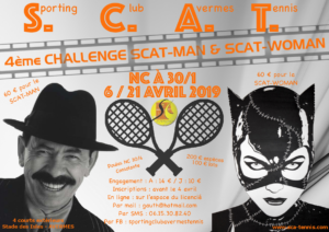 4ème Tournoi SCAT-MAN & SCAT-WOMAN @ Sporting Club Avermes Tennis